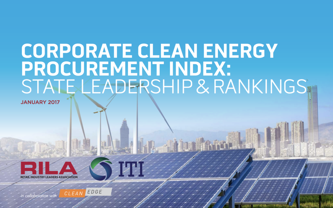 Corporate Clean Energy Procurement Index: State Leadership & Rankings