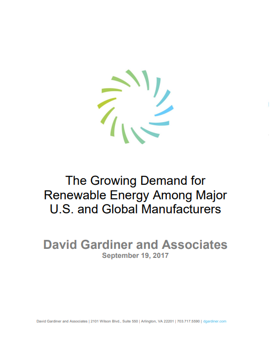 The Growing Demand for Renewable Energy Among Major U.S. and Global Manufacturers