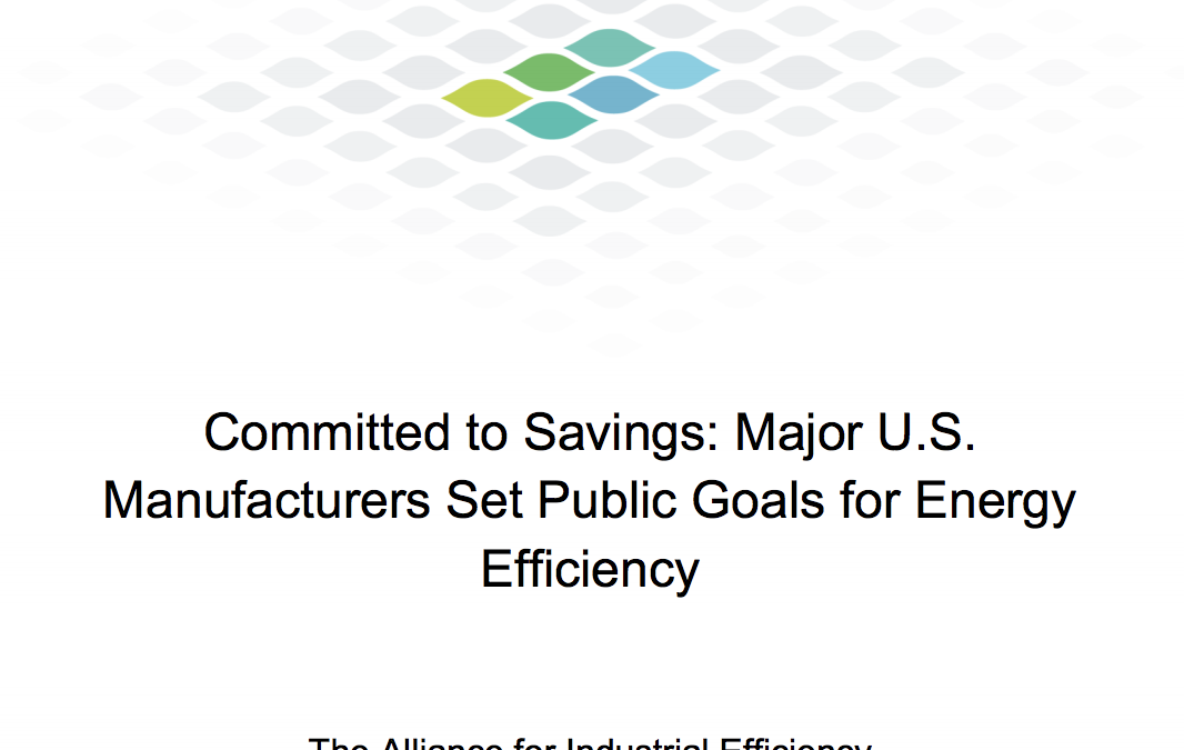 Committed to Savings: Major U.S. Manufacturers Set Public Goals for Energy Efficiency for the Alliance for Industrial Efficiency