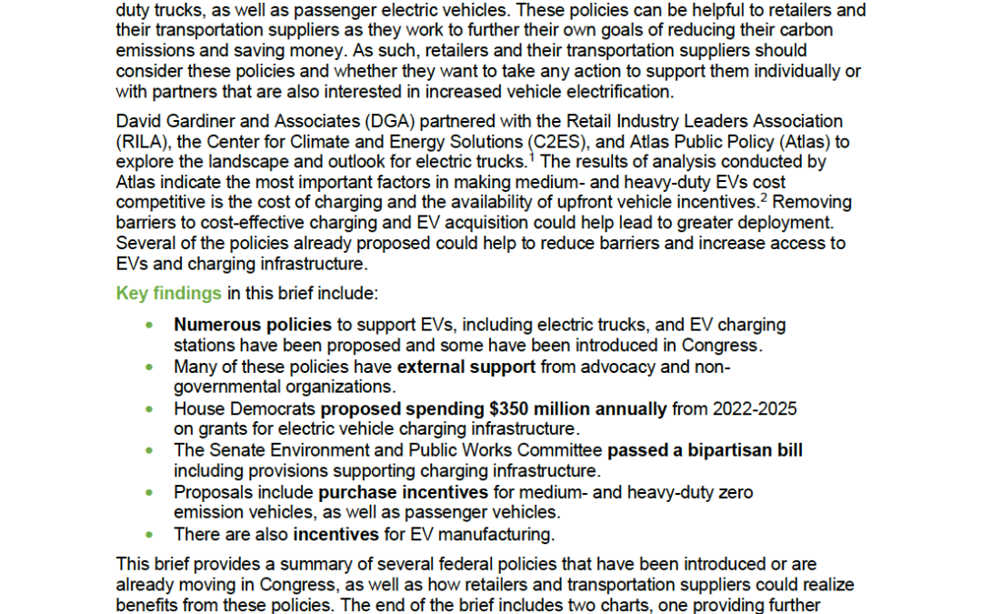 Issue Brief: Electric Vehicles: Federal Policies to Support EV and Charging Station Deployment
